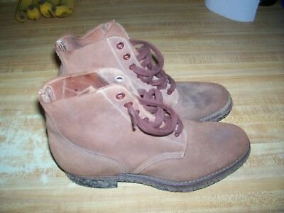 Orig.  Ww Ii U.s.m.c. 3/4 Leather Flesh Out Boots Dated 1945 Size 5 E