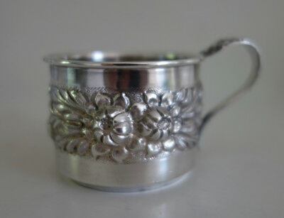 Stieff Rose Sterling Silver Baby Cup Baltimore Holloware Repousse Hand Chased