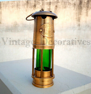 Solid Brass Miner Lamp Antique Marine Nautical Ship Lamp Collectible Desk Decor