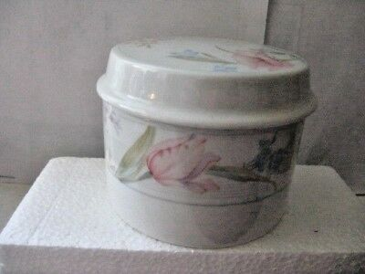 American Limoges Covered  Bowl or Dish - Fine Porcelain with Flowers - Japan