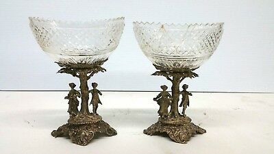 Antique Sterling Silver Continental French Stand With Baccarat Crystal