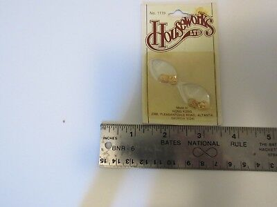 Miniature Dollhhouse Houseworks Harware. Chippendale Drawer Pulls. 1:12