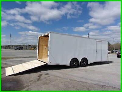 8.5x24 +2v nose spread axle 26 toy hauler 5200 axles car enclosed Cargo trailer