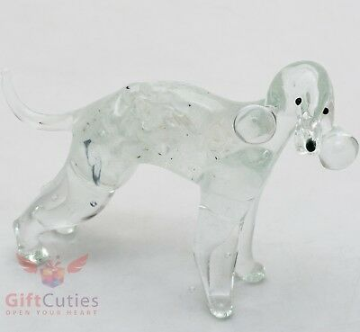Art Blown Glass Figurine of the Bedlington Terrier dog