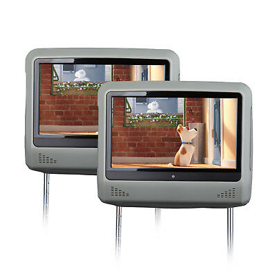 """Active 9"""" HD Screen Car Headrest Monitor w/ DVD Player Touch Screen 32 Bits Game"""