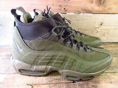 best cheap 1f7fd 58d5c NIKE AIR MAX 95 Sneakerboot Men's Shoe Size 8.5 NEW 806809-202 Olive Green