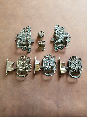 Antique Ice Box Hardware Door Handles/Latches (Eastlake Style)
