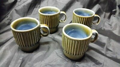 RARE  WADE PORCELAIN MUGS  RAINDROP SIGNED   Set of 4