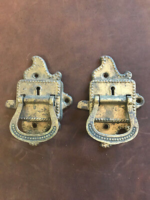 2 Antique Ice Box Hardware Latches