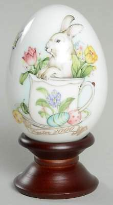 Noritake Bone China Easter Bunny Egg Year 2000 Stand 30th Limited Edition MIB
