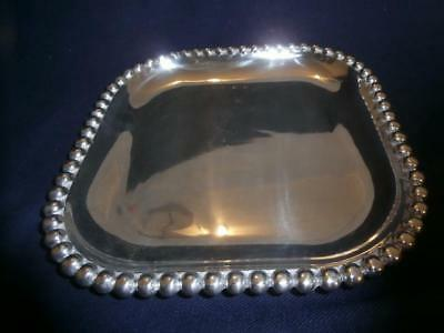 MARIPOSA String of Pearls square serving platter with spreading knife