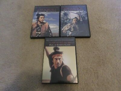 MUSASHI MIYAMOTO DVD Collection Lot Samurai 1, Samurai 2 and Samurai 3