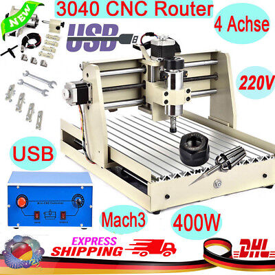 USB CNC 3040T Router Engraver 4Axis Engraving Drilling Cutter Milling Machine US