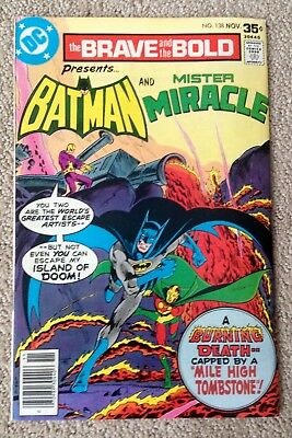 The Brave And The Bold #138 (1977) DC!  Batman/Mister Miracle!  PRICED TO SELL!