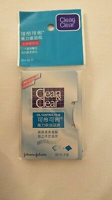 New***3 x Clean and Clear Oil Absorbing Blotting Film***60 Sheets in each = 180!