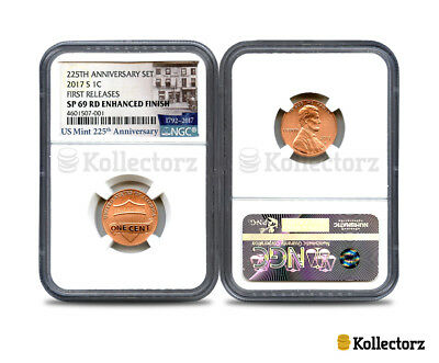 2017 S 225Th Anniver. Set 1C Ngc Sp69 Rd Enhanced Finish First Releases