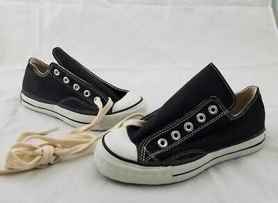 Vintage Late 60s Early 70s Converse Star Original New Black Label Size 3 Low Top