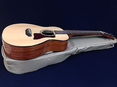 "37"" Caraya S301 Solid Spruce Top Traveler Acoustic Guitar +Deluxe Padded Gig Bag"