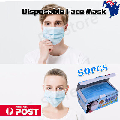 Disposable Surgical Dental Medical Mouth Mask 3Ply Ear Loop Face Anti-Dust AU