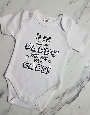 Personalised baby onsies Fun Quotes girl boy size 0000