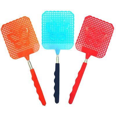 KD_ 73cm Telescopic Extendable Fly Swatter Prevent Pest Mosquito Tool Plastic