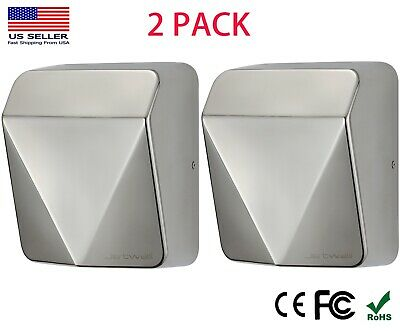 2 Pack Jetwell High Speed Commercial Automatic Stable Stainless Steel Hand Dryer