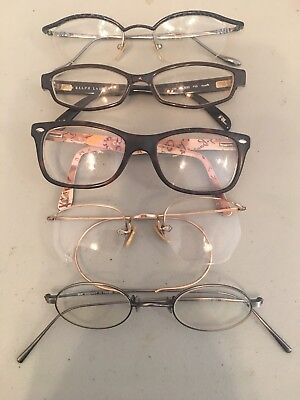 Glasses Andy Warhol, Ralph Lauren, Ray bans, DKNY, gold filled vintage glasses