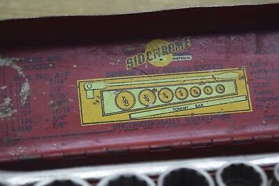 Rare Sidchrome Very Early SS601 AF Set With Tommy Bar Socet Set  Old Tools