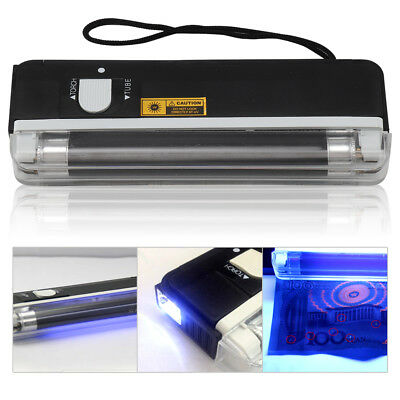 Portable UV Bank Note Checker with Torch ultraviolet tube light battery power UK