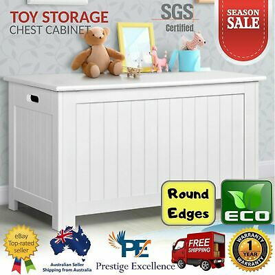Kids Storage Toy Box Organiser Playroom Bedroom Chest Cabinet Coffee Table White