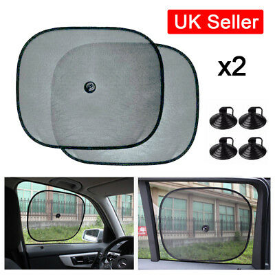 2x Car Window Sun Shade Child Kids Van Blind Screen UV Protector Sunshade UK I