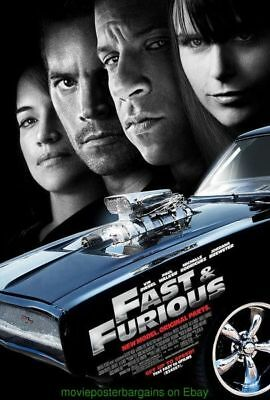 FAST AND THE FURIOUS 4 MOVIE POSTER ORIGINAL 27x40 DS FINAL  VIN DIESEL