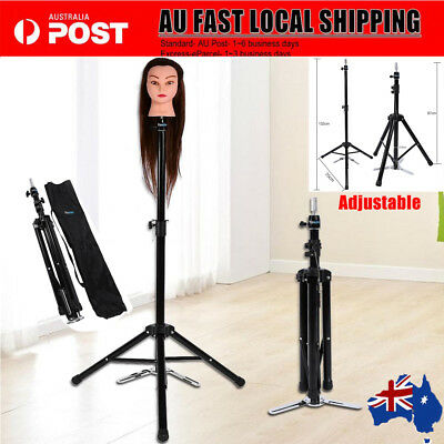 "34-52""Adjustable Tripod Stand Hairdressing Training Mannequin Manikin Head Doll"