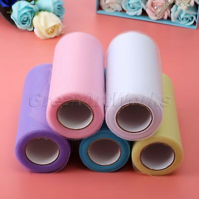 Luxury Sheer Organza Fabric Tulle Roll Party Wedding Decor Table Runner Drapes