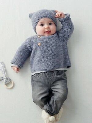 Baby  Jumper and Beanie hat Knitting pattern