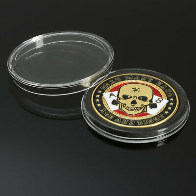 TEXAS Casino Metal Chip Coin Skull Poker Holder Guard Cards Cover