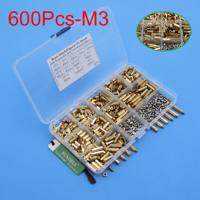 600x m3 steel brass spacers standoff circuit board pcb nut screws rh picclick co uk Circuit Board Standoff Metal Circuit Board Brass Standoff