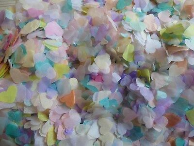 10000 Pastel /Many Colour Tissue Paper Throwing Wedding Confetti Bio Decoration