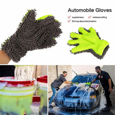 Microfiber Car Vehicle Washing Brush Cleaner Glove Cleaning Tools Accessories