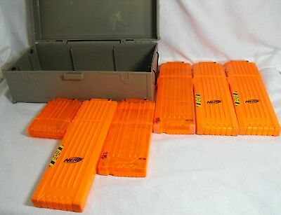 Mixed lot of 6 Nerf N-Strike Dart Magazines/Clips Max 6,Max 12 and Max 18