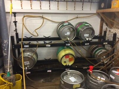 Cellar real ale racking for 10 casks x 2