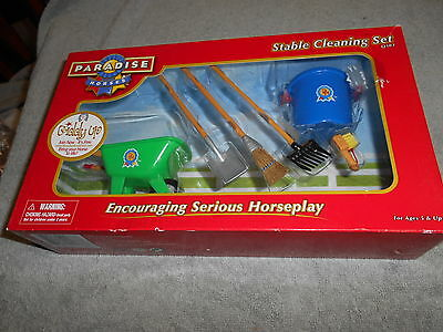 PARADISE HORSES --  6 Piece Stable Cleaning Set Never Opened