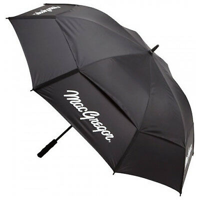 "MacGregor Double Canopy Umbrella 60"" Inch - New Golf Vented Dual Rain Brolly"