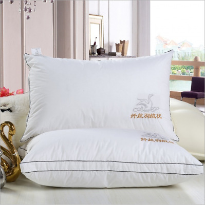Ultra Soft Feather Goose Down Pillow Core Inner Pillow Protect Neck Washable