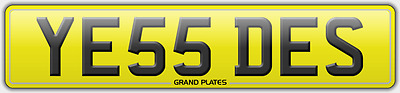 Ye55 Des Yes Desmond Registration Dez Number Plate Sept 2005 On Destiny Uk Desi