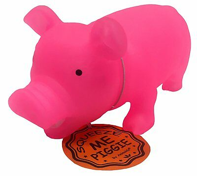 Glow in the Dark Squeeze Me and Oink Piggie by Animolds Size 8 inch Different