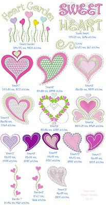 Machine Embroidery Design : Heart COMBO SET, Fast & Free Emailing World Wide