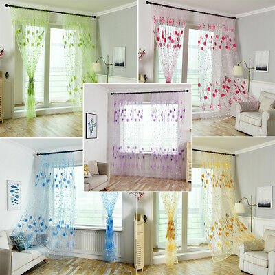 "Elegance (2) Panel Sheer Window Curtains Drapes Set 84"" Long Rod Pocket Good Kit"