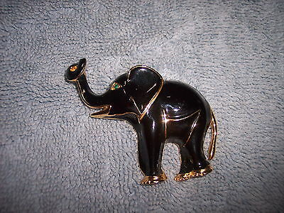 Elephant Brooch - Enameled