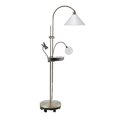 Daylight Company 20W Ultimate Floor Lamp With Magnifier & Clip, E27 Edison Screw